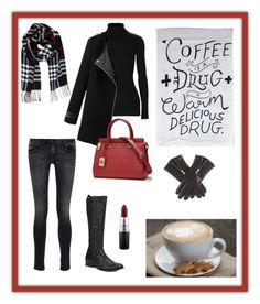 """""""Coffee time"""" by jilladenovan on Polyvore featuring Frye, R13, Autumn Cashmere, Humble Chic, MAC Cosmetics and Lauren Ralph Lauren"""