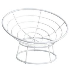 """Our iconic Papasan Chair is handcrafted of natural—and naturally durable—rattan, then finished in white with a high-gloss lacquer. All of which is just another way of saying, """"Ahhhhhhhh.""""<span id=""""mini-upsell"""" data-launch=""""true"""" data-required=""""false"""" data-product=""""Cushions"""" data-masters=""""PV210-2:1""""></span> #PapasanChair"""