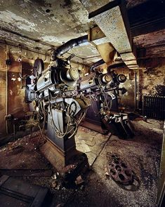 "abandoned bio box/projection room. RKO Keith's Theater, New York ""The past is the past, you cant change it. All you can do is look forward to the future."" ▸ Reblog and ☑ Follow us for more beautiful..."
