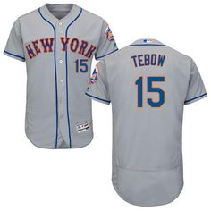 1481087ab Men New York Mets Majestic Road Gray Flex Base Authentic Collection Custom  MLB Jersey