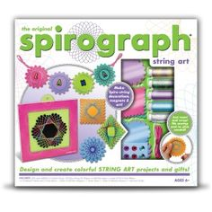 Design and create colorful string art projects and gifts with the Spirograph® String Art kit. Watch amazing spiro-patterns take shape Original Spirograph, Cardboard Frames, Best Christmas Toys, Christmas Gifts, Xmas, String Art Patterns, Craft Kits, Craft Supplies, Shopping