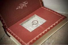 Cuscino portafedi originale per matrimonio vintage