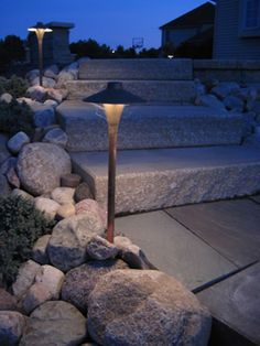 CAST Lighting China Hat Path Light - outdoor lighting design by Bellas Landscaping. Love the look? Pin it! Landscape Lighting, Outdoor Lighting, Garden Steps, Path Lights, Classic Series, Stone Work, Landscape Architecture, Curb Appeal, Lighting Design