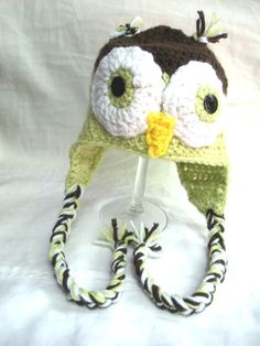 Fun Owl Crochet Hat Baby Toddler Child by ColorCreatedFamily