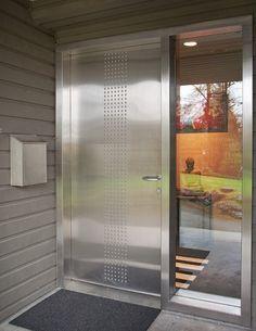 Modern Exterior Doors: Stainless Steel Modern Entry Door with ...
