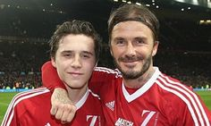 Brooklyn and David Beckham