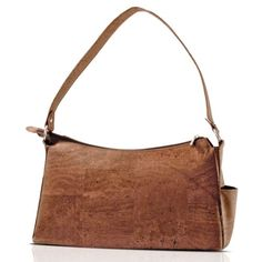 """$129.00 Handbags  Corkor, Green Cork Hobo Purse Handbag Natural Brown - This beautiful hobo bag has a unique pattern due to its veggie material; it made of natural cork, which is one of the greenest products, as it is recyclable, sustainable and animal's cruelty free.  These measures 7.1"""" height, 14.2"""" width and 5.1"""" depth, with 11.4"""" strap.  This hobo handbag is extremely light with only 10.01oz is ..."""