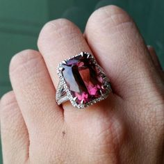 A little sad to let this one go... but happy that it's going to one satisfied customer. Stunning 8 carat pink tourmaline ring custom designed and made just for her. #justintimeforchristmas #bespokejewellery #bespoke #custommade #finejewellery #gemstonejewellery #semiprecious #precious #sgdesigner