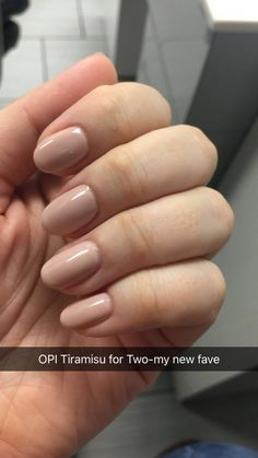 "November 2016 OPI Gel ""Tiramisu for Two"" GelManicures 832321574865281341 Opi Gel Polish, Opi Nails, Nude Nails, Opi Shellac, Fall Nail Polish, November Nails, 14 November, Opi Nail Colors, Manicure Y Pedicure"