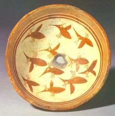 """324mimbres - Bowl. Flying insects, Style III, Mimbres Classic Black-on-white. 2.25"""" x 6"""""""