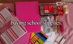I love buying school supplies at the beginning of the year but then I go to school and I am just ☹️