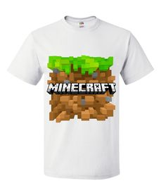 Kids Teen Minecraft T-Shirt White
