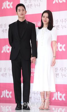 Son Ye Jin and Jung Hae In are Picture Perfect OTP at Press Conference for Pretty Noona Who Buys Me Food - A Koala's Playground Korean Actresses, Korean Actors, Actors & Actresses, Korean Drama Stars, Korean Star, She Was Pretty Kdrama, Korean Celebrities, Celebs, Korean Tv Shows