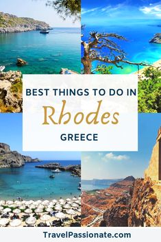 Greece is filled with amazing places for you to explore, like Rhodes. As one of Greece's largest islands, Rhodes is known worldwide for its exquisite beaches, ancient archeological sites, and breathtaking natural wonders. If you're planning to take a trip Mykonos, Santorini, Eurotrip, Best Places To Travel, Cool Places To Visit, Places To Go, Greece Itinerary, Greece Travel, Greece Trip