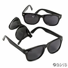 Black Nomad Sunglasses for guests From Oriental Trading for Breakfast at Tiffany's Theme Bridal Shower