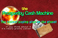Prosperity Cash Machine #onextreme #onextremeteam The fastest paying plan on the planet