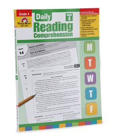 This Grade 4 Daily Reading Comprehension Workbook by Evan-Moor Educational Publishers is perfect! #zulilyfinds