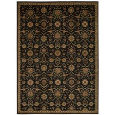 Shop for kathy ireland Ancient Times Persian Treasure Black Area Rug by Nourison…