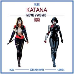 "764 Likes, 14 Comments - DCEU Accurate - Movie vs Comic (@dceu.accurate) on Instagram: ""KATANA - MOVIE VS COMICS This is Katana. She's got my back. I would advise not getting killed by…"""