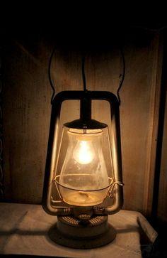 RESERVED For Flavia Upcycled Vintage Blue Dietz Kerosene Lantern
