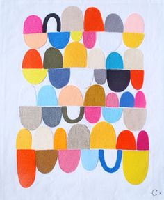 Love the simplicity and the colors. 24 Egg Cups, Rachel Castle #print