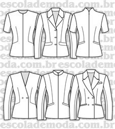 Moldes de casaquetos e blazers clássicos