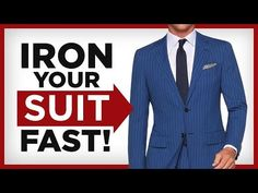 How To Iron A Suit At Home | Wrinkle Free Suit | RMRS Real Men Real Style, Mens Fashion 2018, Well Dressed, Mens Suits, Gentleman, What To Wear, Personal Style, How To Look Better, Steamer