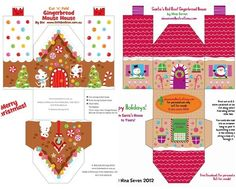 printable christmas houses