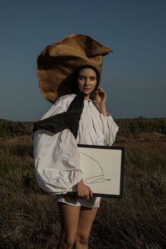 Margarida + Portugal +  'Women Resting On Elbow' art print / Amanda Shadforth.