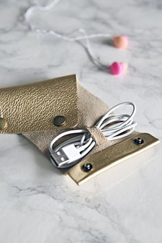 IHeart Organizing: DIY Leather Cord Keeper