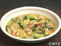 夏はとろみをゆる~く、仕上げて。「アスパラとえびの中華風卵とじ」のレシピを紹介!