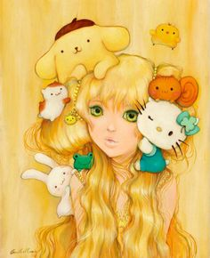 purin hello kitty pictures | cute, hello kitty, illustration, purin, sanrio - inspiring picture on ...