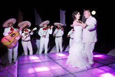 Playa del Carmen Weddings - The Reef Playacar - Beautiful lighted dance floor for wedding reception
