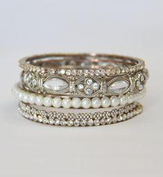 love these bangles to layer ith a beautiful Timex watch!