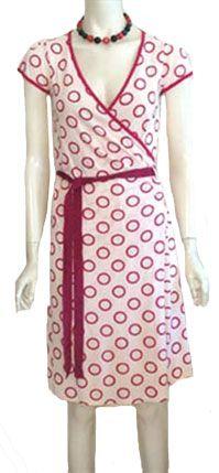 Cream Rayon Wrap Dress