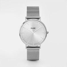 CLUSE La Bohème Mesh Silver White CL18105 Fashion Bracelets fcea27bf617