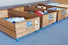 Cmo organizar con cajas de madera recuperadas                                                                                                                                                                                 Más