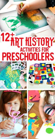 Preschoolers will love learning about the Great Artists, as well as trying different art techniques and mediums in this Art History for Preschool series. 12+ different activities for kids covering the world's greatest artists from Matisse to Picasso, Van