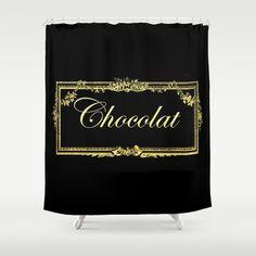vintage chocolate Shower Curtain