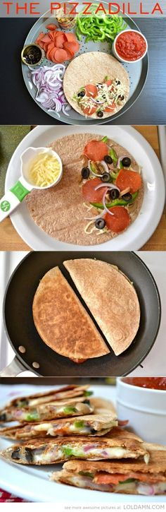 Awesome cooking recipes: Make yourself a wonderful Pizzadilla