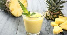 """Recette de Smoothie """"combustion des graisses"""" thé vert et ananas. Facile et rapide à réaliser, goûteuse et diététique."""