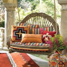 Swinging lazily on the #porch in the soft winter sun.     Courtesy : GoodHomes Magazine India.