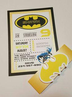 Batman uitnodigingen Batman verjaardag nodigt door AshleyKreations