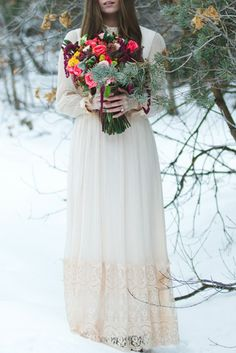 Snowy Utah Bridal Shoot - see more at http://fabyoubliss.com