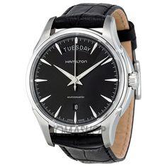 Hamilton Jazzmaster Black Dial Leather Mens Watch H32505731