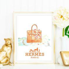Hermes Birkin Bag fashion illustration