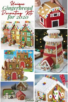 From mini villages to candy-themed cottages, here are the most festive, adorable, and easiest-to-DIY gingerbread house kits around in 2020 From traditional gingerbread houses to campers, trains and lighthouses, we've found some truly unique gingerbread decorating kits. #gingerbreadhouse Best Gingerbread House Kit, Gingerbread Cookie Mix, Cardboard Gingerbread House, Gingerbread Castle, Cool Gingerbread Houses, Christmas Home, Christmas Morning, Christmas Recipes, Christmas Cookies