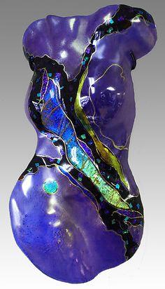 Sapphire+Moon+Figure by Karen+Ehart: Art+Glass+Sculpture available at www.artfulhome.com