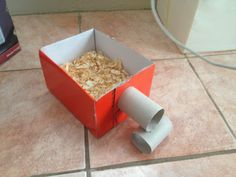 Diy hamster burrowing box