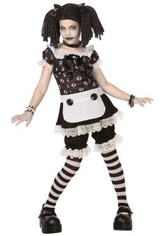 Tween Gothic Rag Doll costume #Halloween #Teen